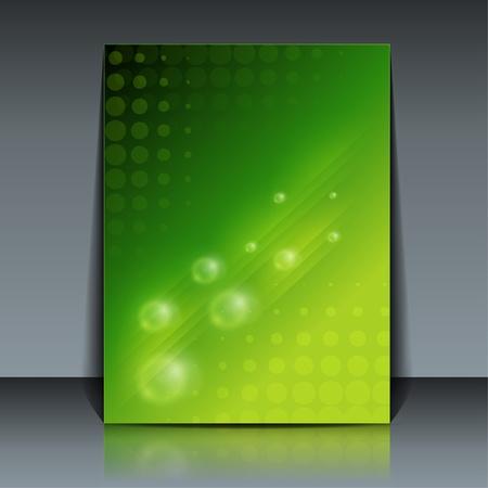 Green Flyer design Stock Vector - 11478687
