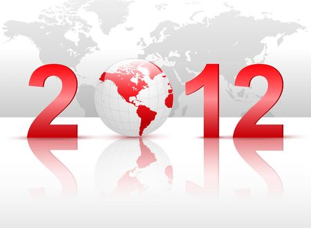 worldwide wish: New Year 2012 background for business.