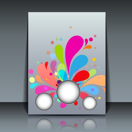 Colorful Flyer design  Vector