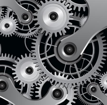 rueda dentada: Resumen de antecedentes con engranajes met�licos, vector.