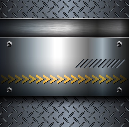 Technology background, metallic with diamond plate texture.. Vector