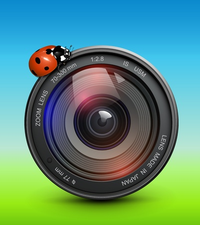 photographers: Abstract background spring, summer concept, vector.