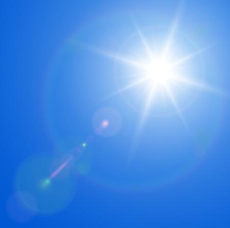 sonne: Sonne mit Lens Flare, Vektor Hintergrund. Illustration