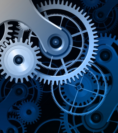 clockwork: Abstract background with metallic gears, vector.