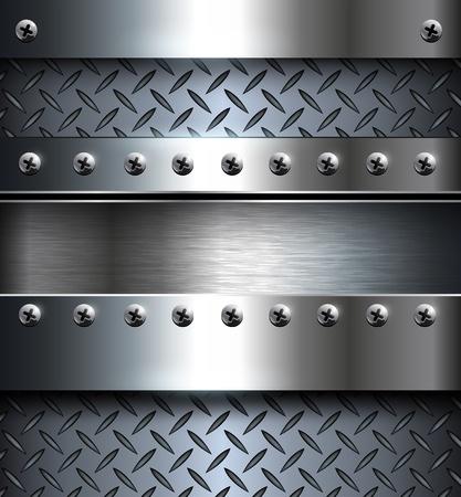 mechanical: Technologie achtergrond, metallic met schroeven.