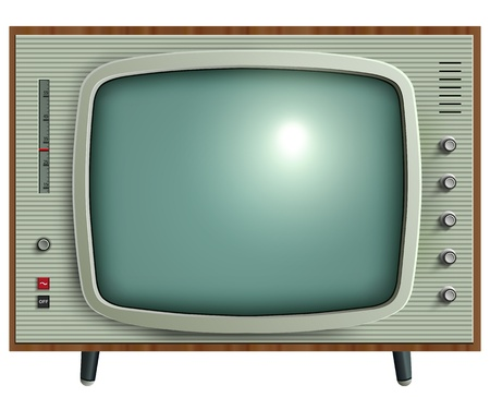 tv screen: Retro tv, illustration.