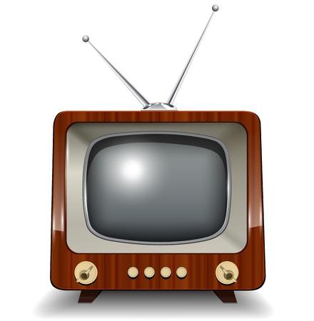 Retro tv, illustratie. Vector Illustratie