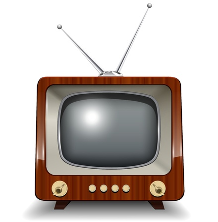 tv icon: Retro tv, illustration.