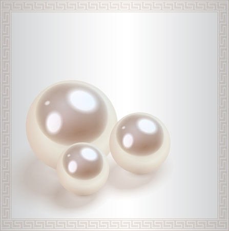 jewelry design: Love background with pearls, vector.