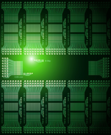 circuitry: Electronic futuristic background, vector illustration. Illustration