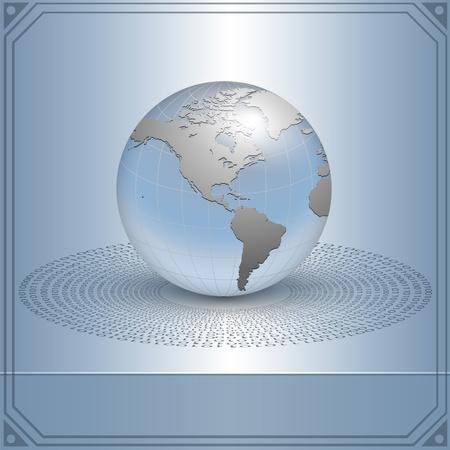 commerce: Business background, de la terre dans le concept de la nouvelle technologie, vecteur.