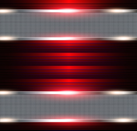 aerodynamic: Abstract background, metallic banners with 3d red inside, vector..