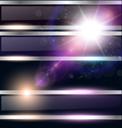 Abstract background, cosmic with glowing star, vector. Stock Vector - 12282508
