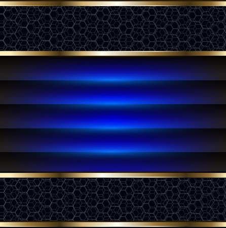 riches: Abstract background elegant blue and gold, vector.