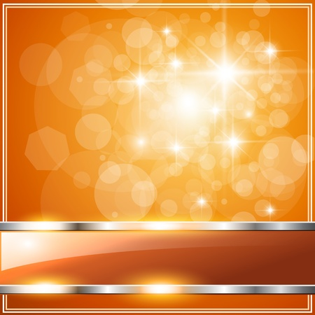 Sparkling orange abstract background, vector.