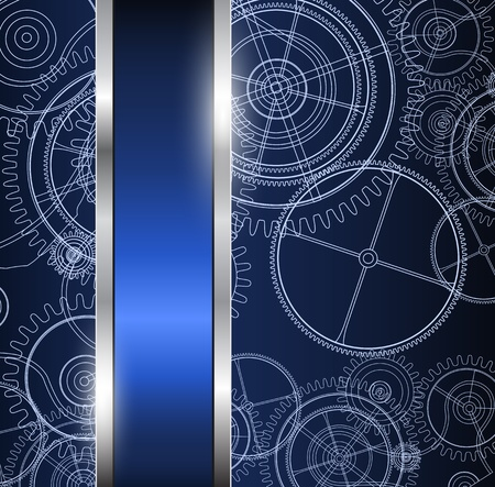 Abstract background with science; technical drawing, vector. Illustration