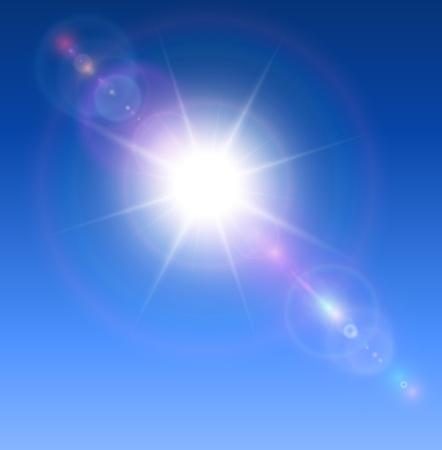 lens flare: Sole con sfondo lens flare.