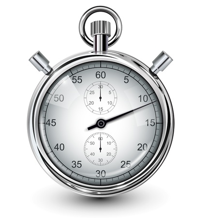Vector stop watch, realistic illustration. Stock Vector - 12730248