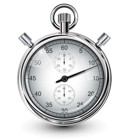 Vector stopwatch, realistische illustratie. Vector Illustratie