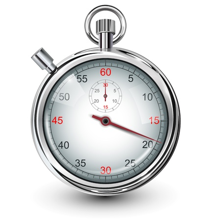 timer: Stop watch, vector illustration.