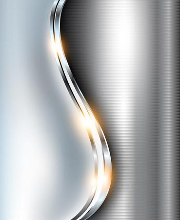 Elegante fondo 3d metálico, vector.
