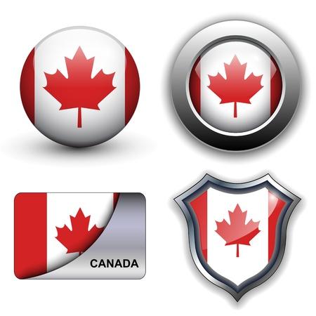 Le drapeau du Canada icônes thème.