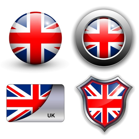 United Kingdom; UK flag icons theme. Vector