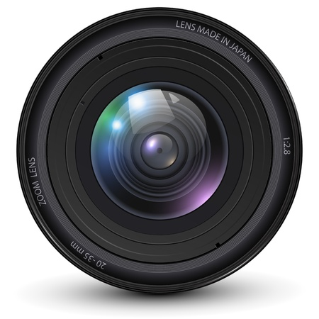 Camera photo lens illustration. Vector
