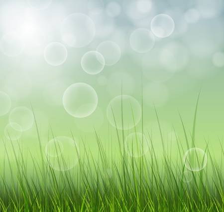 dawning: Abstract spring background blurry Illustration