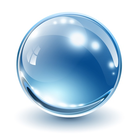 3D glasses: 3D glass sphere, vector illustration.