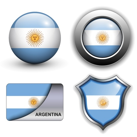 Argentina flag icons theme. Vector