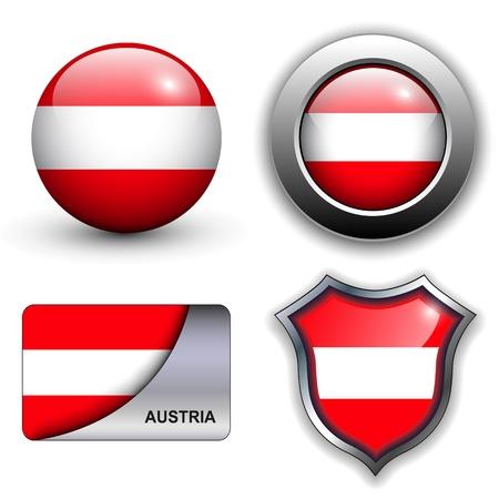 Oostenrijk vlag iconen thema.