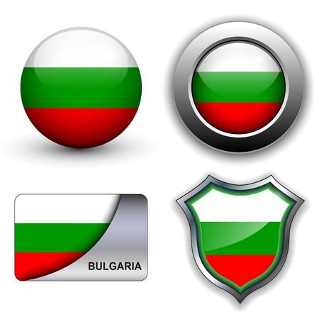 Bulgaria flag icons theme.