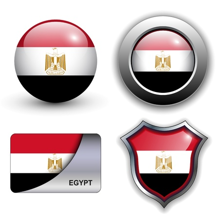 Egypt flag icons theme. Vector