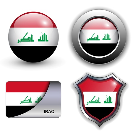 Iraq flag icons theme. Vector