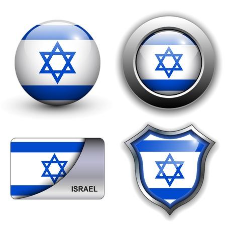 flag of israel: Israel flag icons theme.