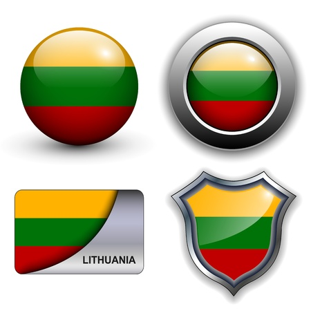 Lithuania flag icons theme. Stock Vector - 13272231