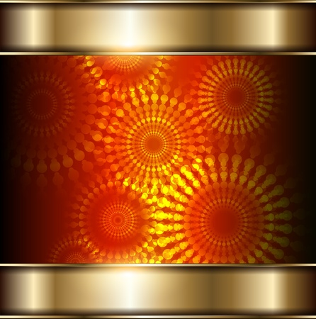 abstract background orange and gold, vector. Vector