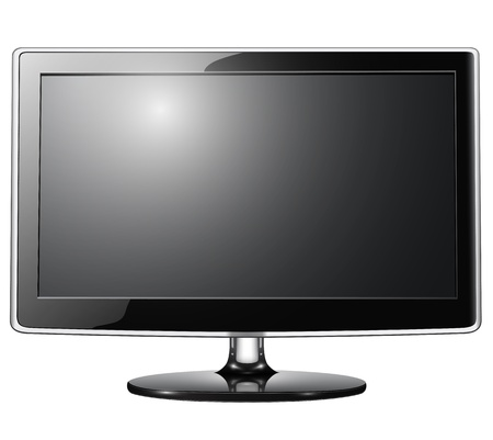 high definition: lcd tv monitor isolated.