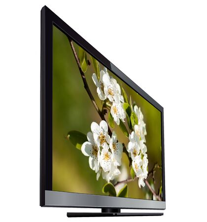 Modern tv flat screen lcd, led isolated photo