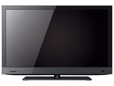 lcd tv: TV flat screen lcd, led isolated