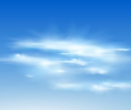 적란운: 벡터 구름 현실적인 그림입니다. 일러스트