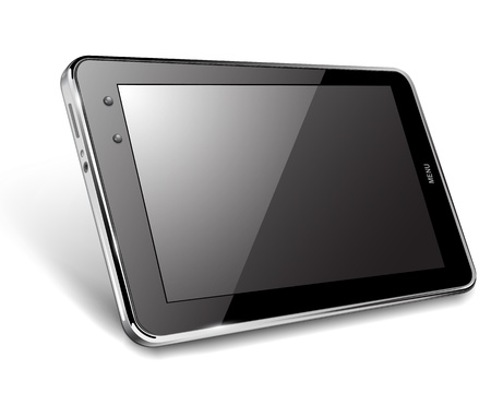 Tablet computer, vector illustration
