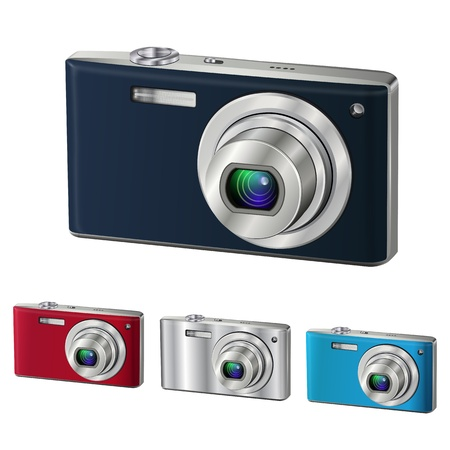 Digital camera isolated Stock Vector - 14365374