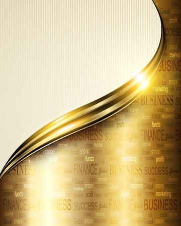 Business background elegant gold Stock Vector - 14554080