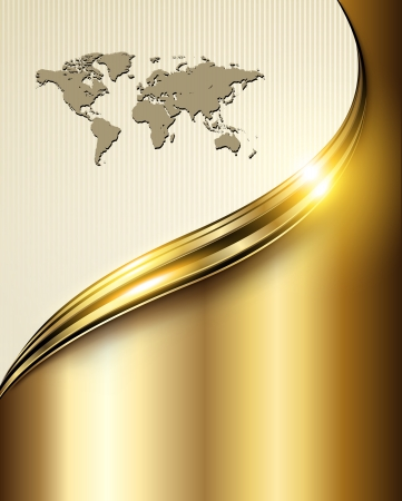 Business background golden lines Illustration