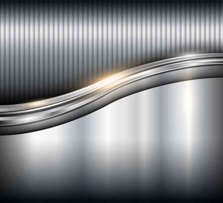 stainless: Metallic background steel texture Illustration