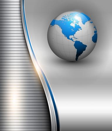 Business background, 3d elegant silver grey, vector illustration. Stock Vector - 14771715