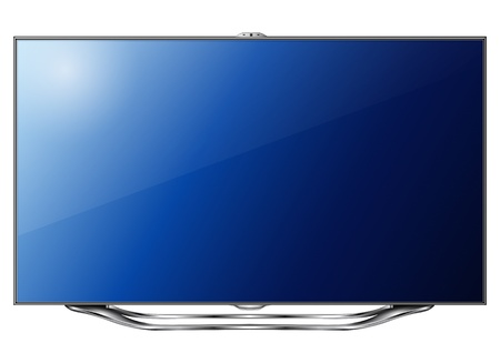flat screen tv: Modern TV led isolated, 3d technology illustration.