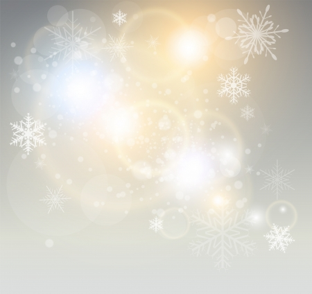 Abstract Christmas background with white snowflakes, elegant illustration. Vector